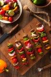 Organic Homemade Vegetable Shish Kababs Stock Photo