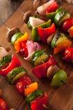 Organic Homemade Vegetable Shish Kababs Royalty Free Stock Photo