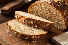 Organic Homemade Whole Wheat Bread Stock Photos
