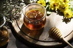 Organic honey food photography recipe idea royalty free stock images