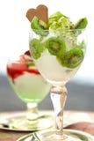 Organic ice cream Stock Images