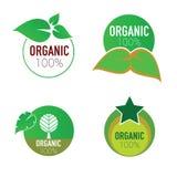 Organic icon green circle vector Royalty Free Stock Images