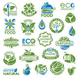 Organic icon set Royalty Free Stock Photos