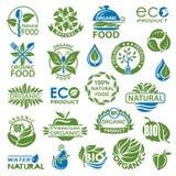 Organic icon set Royalty Free Stock Photos