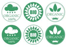 Organic Icon Set Stock Image