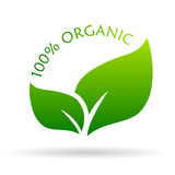 100 organic icon. On white background royalty free illustration