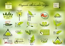 Organic icons and logos for your design Stock Images