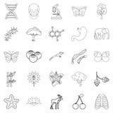 Organic icons set, outline style. Organic icons set. Outline set of 25 organic vector icons for web isolated on white background Stock Photography
