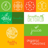 Organic juice - packaging design elements Stock Photography