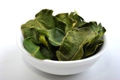 Organic kaffir lime leaves Stock Images