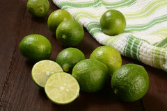 Organic key limes Royalty Free Stock Image