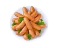 Organic kielbasa sausages Stock Images