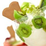 Organic kiwi ice cream Royalty Free Stock Photos