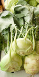 Organic kohlrabi. Kohlrabi is autumn vegetables that are healthy Royalty Free Stock Photo