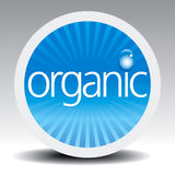 Organic Label. Blue Organic Label Vector Drawing Stock Photography