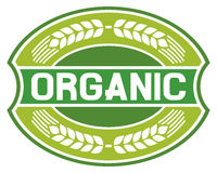 Organic label stock illustration