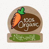 Organic label. Over white background vector illustration Stock Photos