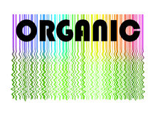 Organic label and background vector illustration