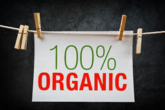 100% Organic label Stock Images