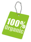 100% organic label. Isolated on pure white background stock illustration