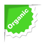 Organic Label Means Advertisement Sign And Placard Stock Image
