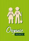 Organic label Stock Photo