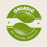 Organic label. Over white background vector illustration Royalty Free Illustration