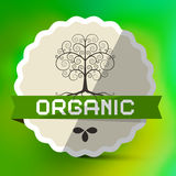 Organic Label with Tree Sign Royalty Free Stock Images