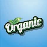 Organic Label vector Stock Images
