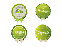 Organic labels Royalty Free Stock Photos