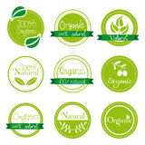 Organic labels Royalty Free Stock Images