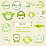 Organic labels, logos and stickers Royalty Free Stock Photo