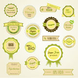 Organic labels, logos and stickers Royalty Free Stock Images