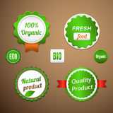 Organic labels, logos and stickers Stock Photo