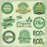 Organic labels Stock Photography