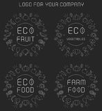 Organic labels set Royalty Free Stock Photos