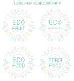 Organic labels set Royalty Free Stock Images