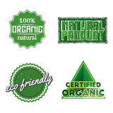 Organic labels. Set of organic, natural product, eco friendly labels, signs, badges, icons, logotypes in vintage style. Stock vector Stock Image