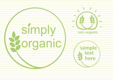 Organic Labels Vector Royalty Free Stock Photography
