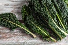 Organic Lacinato Kale wood table Royalty Free Stock Image