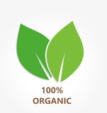 Organic leaves icon Stock Photography