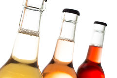 Organic Lemonade In Bottles With Crown Cap Stock Images