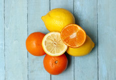 Organic Lemons and Oranges Stock Image