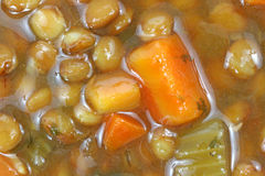 Organic Lentil Soup Close View Royalty Free Stock Photo
