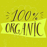 Organic lettering banner with handwritten Stock Images