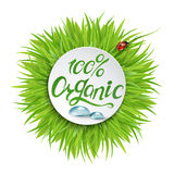 100% organic logo design. 100% Natural Vector Lettering Stamp Illustration Stock Illustration