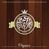 Organic logo Royalty Free Stock Photo