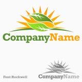 Organic logo Royalty Free Stock Image