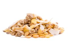 Organic Low Carb Muesli Stock Image
