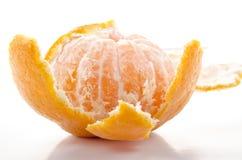Organic mandarin on white background Royalty Free Stock Photography